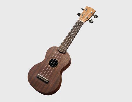 vintage acoustic ukulele on white isolated background Stockfoto