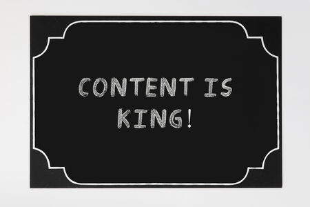 Content is king text in blackboard