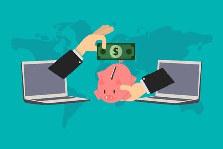 procedure of credit card contracting, the account holder delivers his savings to the financial advisor