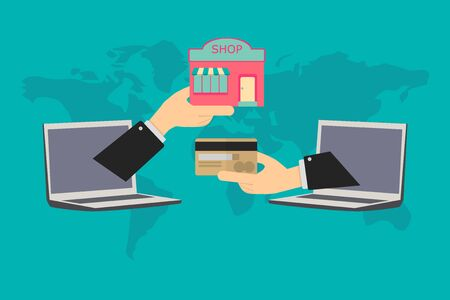 online transactions, payment of store with credit card anywhere in the world