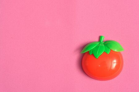 Plastic vegetable collection set of one tomato on isolated white background Stock Photo