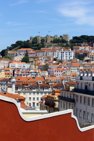 Castle Hill, Lisbon, Portugal Stock Photo