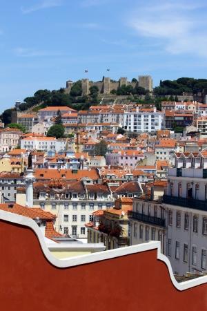 Castle Hill, Lisbon, Portugal Stock Photo