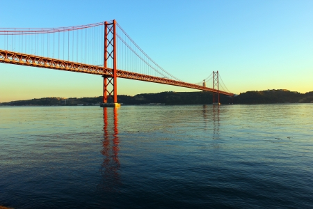 Tagus River and Bridge photo