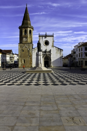 templars: Main square of the portuguese city of Tomar founded by the Templars