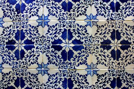 Detail of some portuguese tiles, azulejos photo