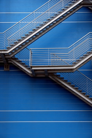 Detail of the stairs of a building photo