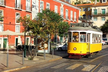 Elevador da Bica, Lisbon, Portugal Stock Photo - 18431770