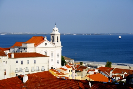 View over the typical Lisbon quarter of Alfama. Stock Photo - 15383751