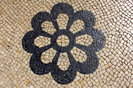 POrtuguese Pavement, Portuguese Cal�ada Stock Photo - 15429133