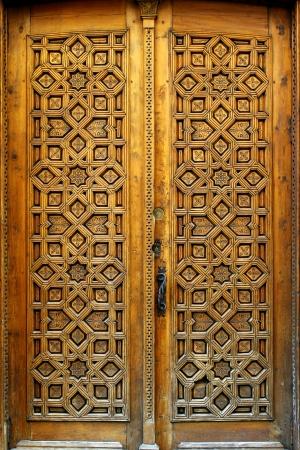 moorish: Detail of a door at the spanish city of Toledo.