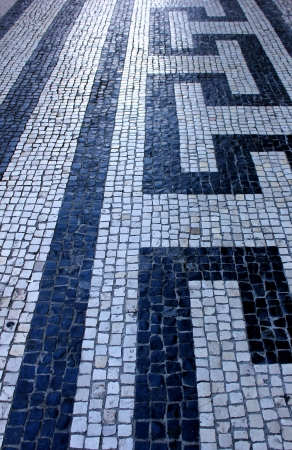 Detail of a typical portuguese pavement in Lisbon. Stock Photo - 15383627