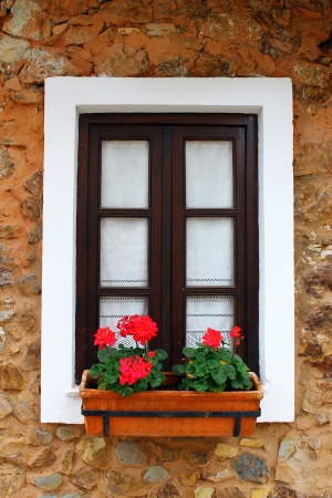 Detail of a window in a little portuguese village