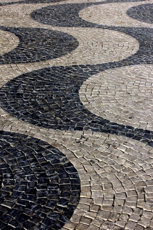 Detail of the famous Portuguese Cal�ada at the portuguese capital, Lisbon photo