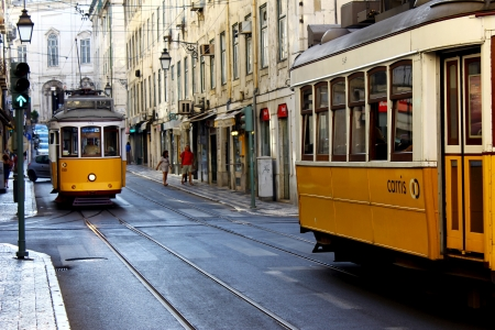 Trams, LIsbon, Portugal