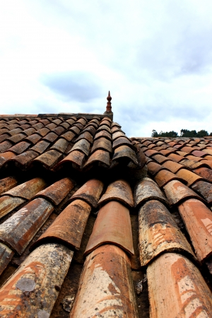 Detail of a roof at a small portuguese village photo