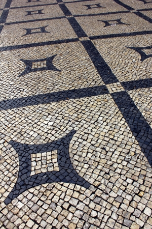 ccedil: Detail of a typical portuguese pavement