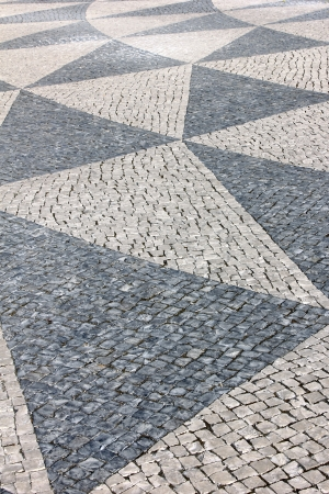 Detail of a typical portuguese pavement Stock Photo - 15383640