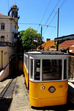 Detalhe de um bonde, em Lisboa, Portugal