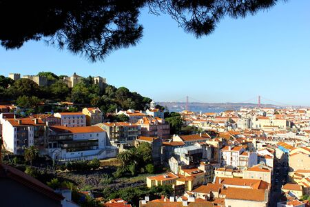 View over the Castle Hill and the DOwntown of Lisbon
