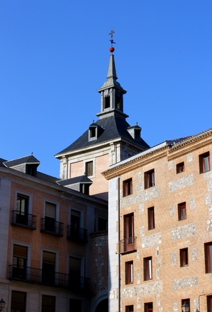 Detail of some buildings at the spanish capital, Madrid  photo
