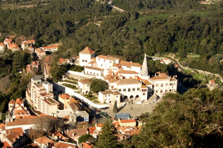 View over the portuguese city of Sintra