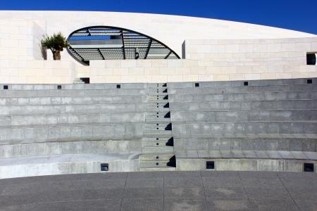 Detalhe de um anfiteatro em Lisboa, Portugal Editorial