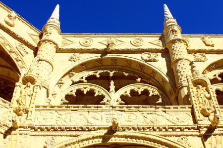 Detalhe do claustro do Mosteiro dos Jer