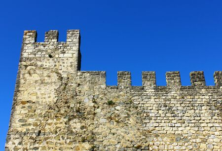 fortifying: Detail of a portuguese medieval castle