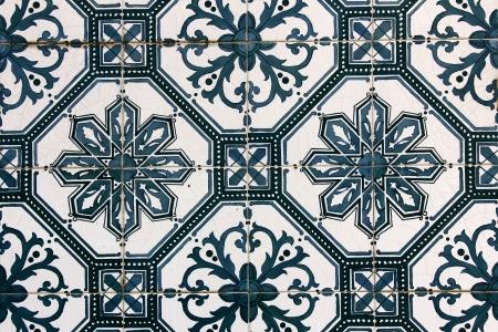 Detalhe de alguns azulejos t