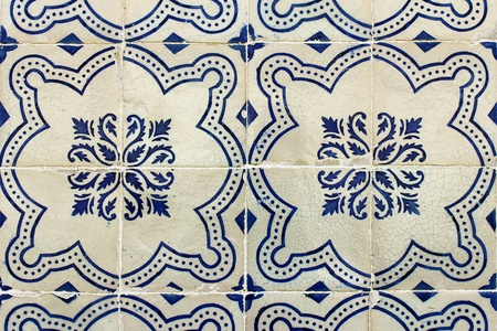 Detail of some typical portuguese tiles photo