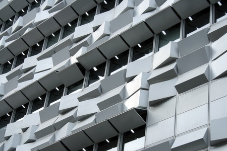 dynamic growth: Detail of a modern building at Lisbon, Portuga