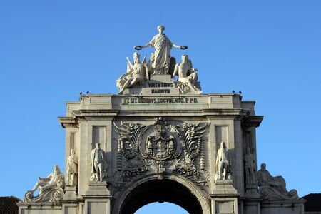 Detail of the arch at Lisbon photo