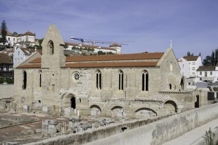 Detail of the Santa CLara-a-Velha Monastery at Coimbra, Portugal photo