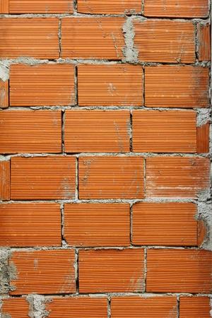 Detalhe de uma parede de tijolos