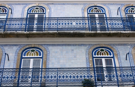 Detail of an old building at Lisbon, Portugal Stock Photo