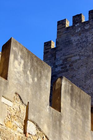 Detail of the Saint George Castle at Lisbon, Portugal Stock Photo - 16348091
