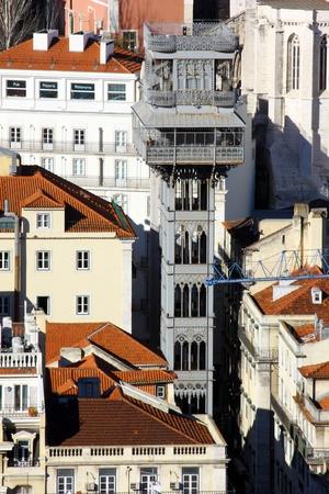 justa: Santa Justa Elevator, Lisbon, Portugal
