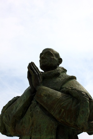 Fatima, Portekiz de Papa John Paul II Heykeli Stok Fotoğraf - 17277903