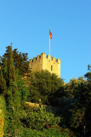 panoramics: Castle of Saint George Castle, Lisbon, POrtugal Editorial