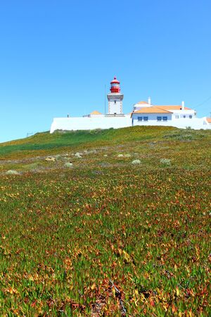 Cabo da Roca at Portugal is the most western poit of Europe Stock Photo - 17522523