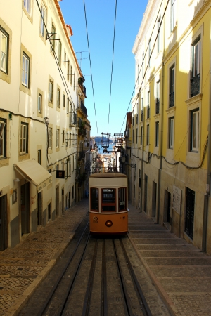 Elevador da Bica, Lisbon, Portugal Stock Photo - 17522510