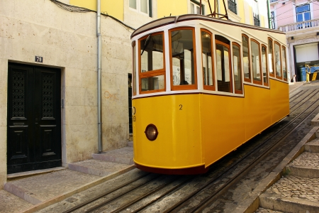 Elevador da Bica, Lisbon, Portugal Stock Photo - 17522516