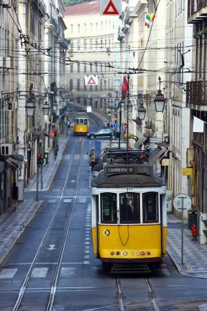 chiado: Famous tram 28, Lisbon, POrtugal
