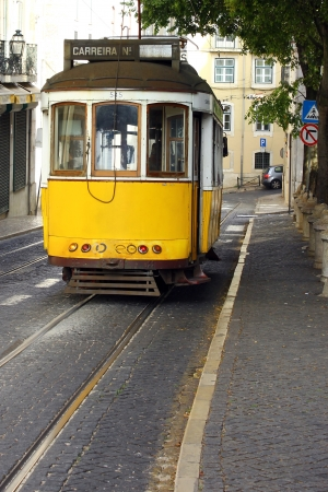Famous Tram 28, Lisbon, Portugal Stock Photo - 17522536