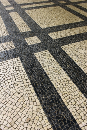 Calcada Portuguesa, Portuguese Pavement Stock Photo - 17685836