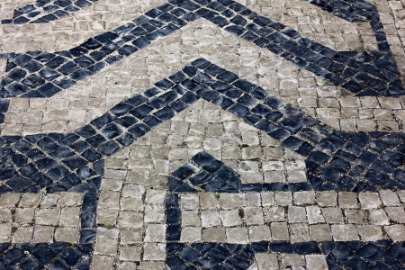 Calcada Portuguesa, Portuguese Pavement Stock Photo - 17685834
