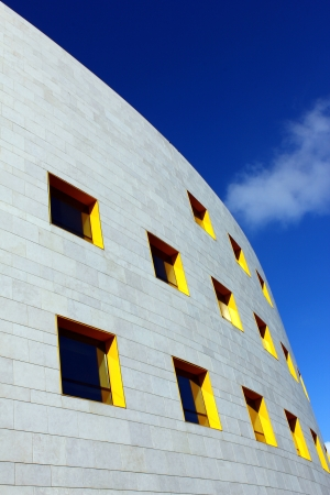 company building: Detail of a modern building at Lisbon, Portugal