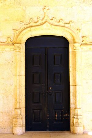 Detail of a door at the Jeronimos Monastery, Lisbon, Portugal Stock Photo - 17685987