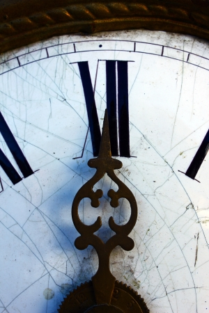 vespers: Old Clock Stock Photo